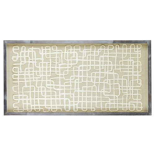 Belle Maison Geo Wall Decor Under Glass