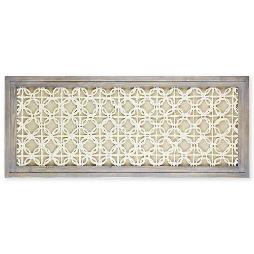 Belle Maison Medallion Wall Decor Under Glass