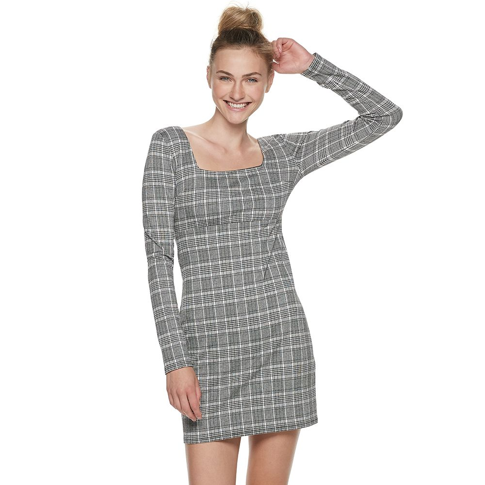 Juniors' SO® Squareneck Mini Dress