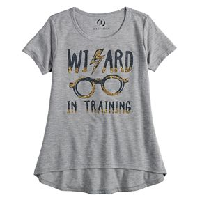 """Girls 7-16 Harry Potter """"Wizard in Training"""" Graphic Tee"""