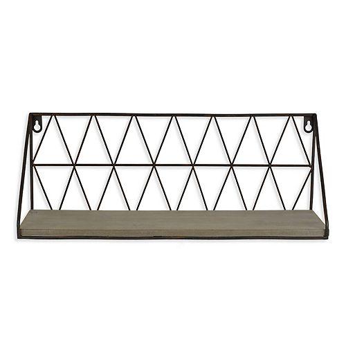 Belle Maison Wire Wood Shelf