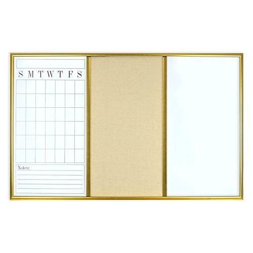 Belle Maison Dry Erase Calendar and Pin Board