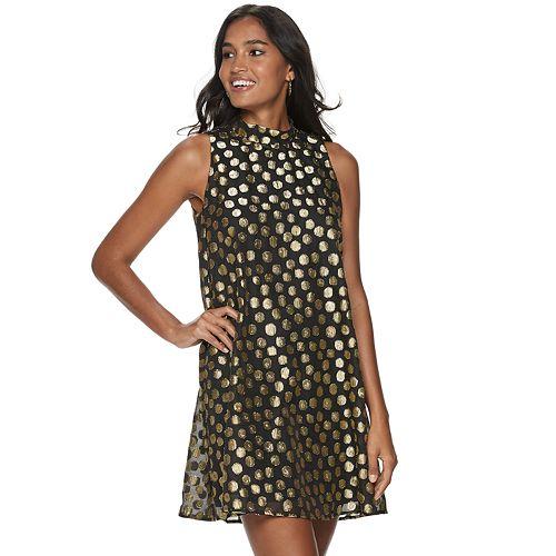 Women's ELLE™ Polka Dot Trapeze Dress