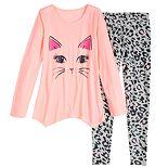 Girls 4-18 SO® Top & Leggings Pajama Set