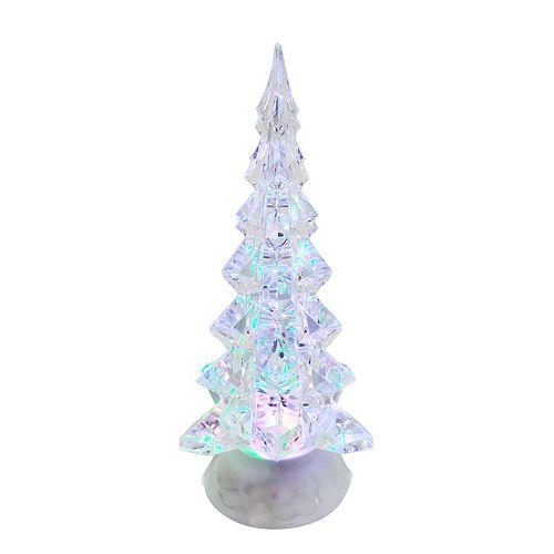 Kurt Adler Led Clear Motion Christmas Tree Table Decor