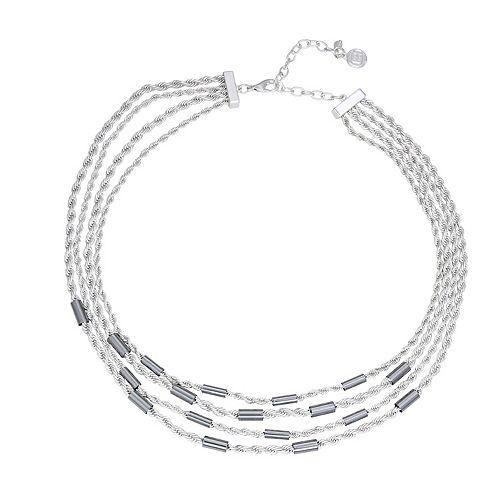 Dana Buchman Two-Tone Multi Strand Chain Necklace