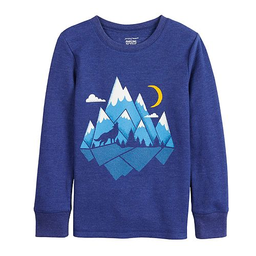 Boys 4-12 Jumping Beans® Mountains Thermal Tee