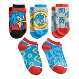 Boys 8-20 5-Pack Sonic the Hedgehog No-Show Socks