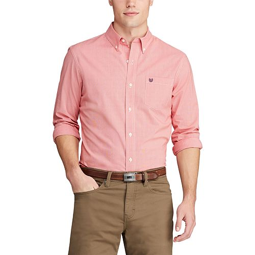 Big & Tall Chaps Stretch Easy-Care Button-Down Shirt