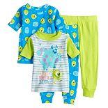 Disney / Pixar Monsters Inc. Baby Boy 4 Piece Sully & Mike Pajama Set