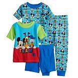 Disney's Mickey Mouse & Friends Baby Boy 4 Piece Mickey, Pluto & Donald Buck Pajama Set