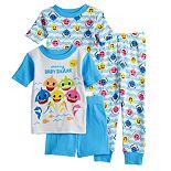 Baby Boy Baby Shark 4 Piece Pajama Set