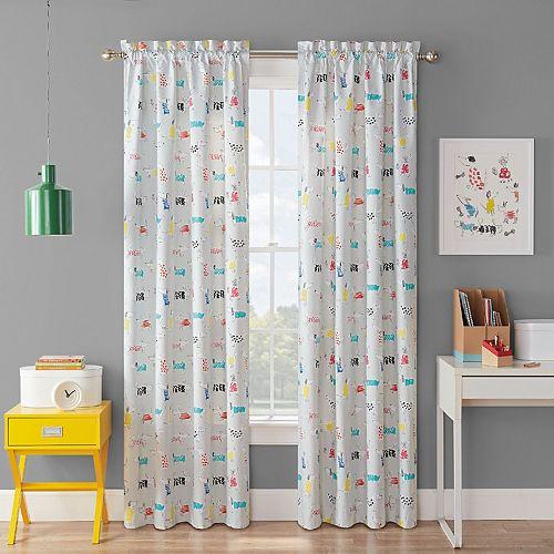 Waverly Kids Adogable Blackout Window Curtain