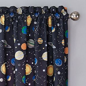 Waverly Kids Space Adventure Blackout Window Curtain
