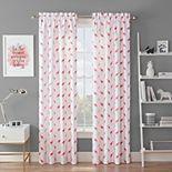 Waverly Spree Flamingo Flock Blackout Window Curtain