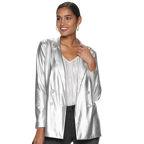 Women's Jennifer Lopez Cozy Metallic Blazer