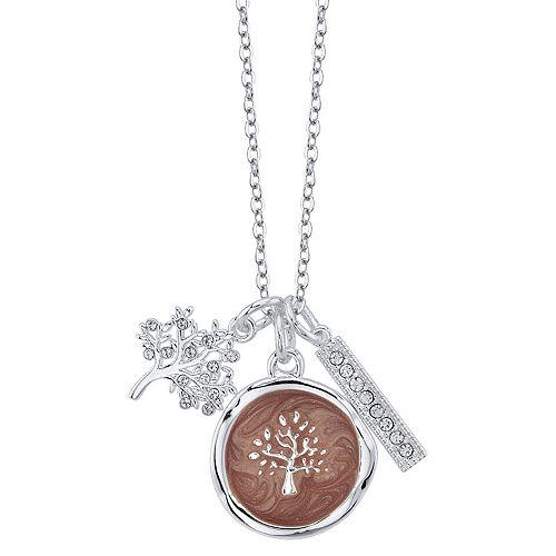 LovethisLife® Crystal Tree & Bar Pendant Necklace