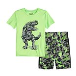 Boys 4-12 Jumping Beans® Camo Dinosaur Graphic Tee & Shorts Set