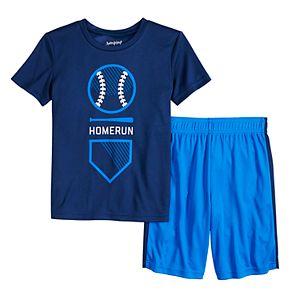 "Boys 4-12 Jumping Beans® Baseball ""Homerun"" Graphic Tee & Shorts Set"