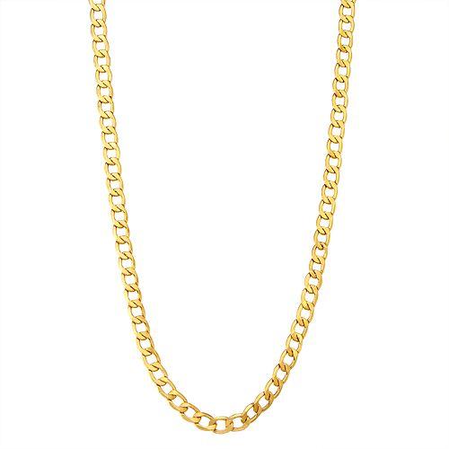 Men's 14k Gold Cuban Curb Chain