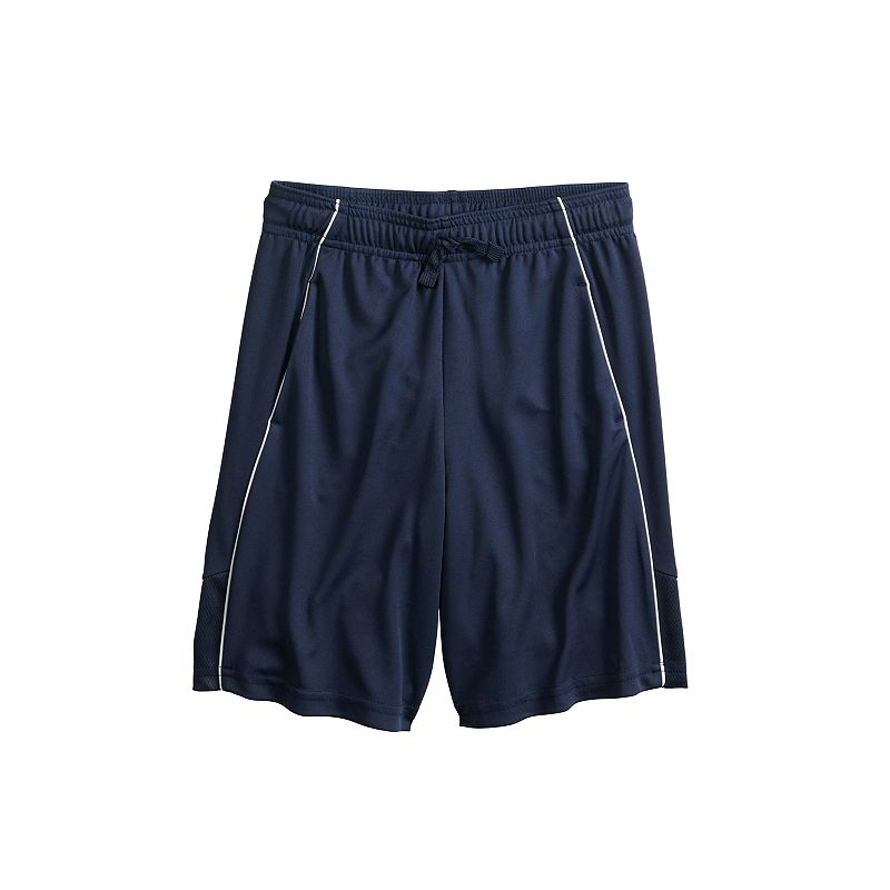 Boys 4-12 Jumping Beans Pieced Piped Active Shorts, Boy's, Size: 8 HUSKY, Dark Blue