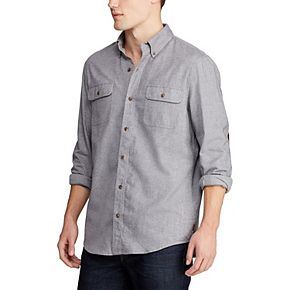 Big & Tall Chaps Go Untucked Classic-Fit Button-Down Shirt