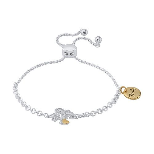 LovethisLife® Two-Tone Crystal Tree Bolo Bracelet