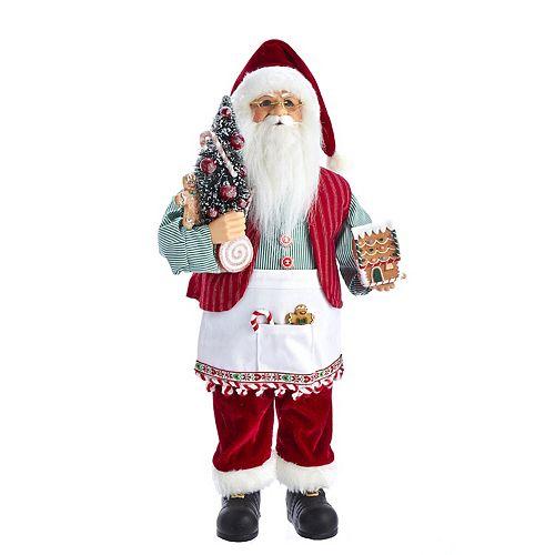 Kringle Klaus Santa With Gingerbread House