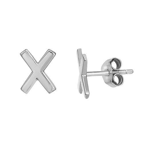PRIMROSE Sterling Silver Initial Stud Earrings