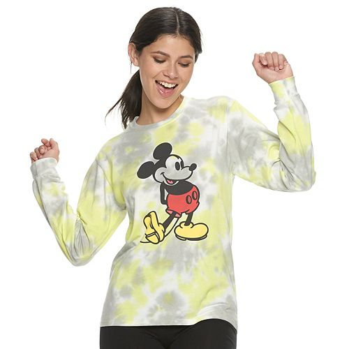 Juniors' Disney's Mickey Mouse Tie Dyed Tee