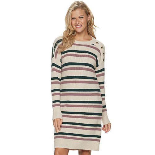 Petite SONOMA Goods for Life™ Button-Shoulder Sweater Dress