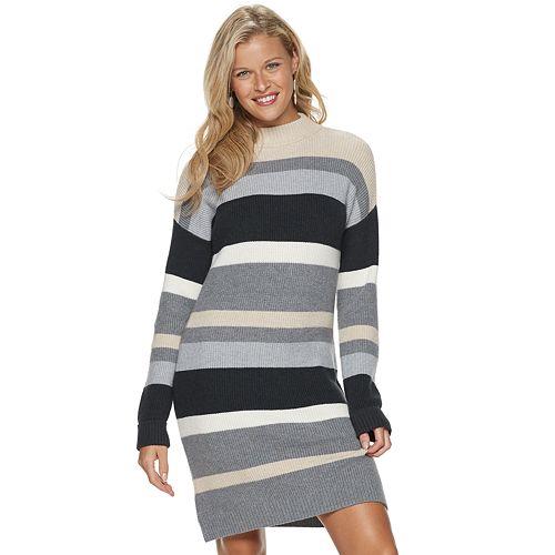 Petite SONOMA Goods for Life™ Striped Mockneck Sweater Dress