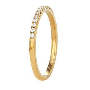 Simply Vera Vera Wang 14k Gold 1/8 Carat T.W. Diamond Wedding Band