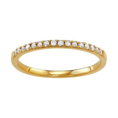 Simply Vera Vera Wang 14k Gold 1/8 Carat T.W. Diamond Wedding Band HI-I2