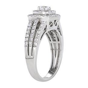 Simply Vera Vera Wang 14k White Gold 1 Carat T.W. Diamond Halo Engagement Ring