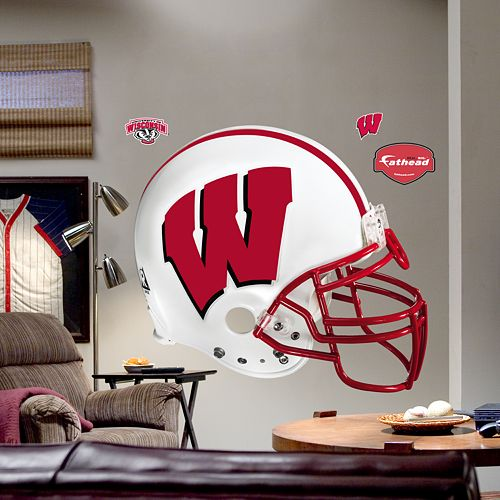 Fathead® University of Wisconsin Badgers Helmet Wall Decal