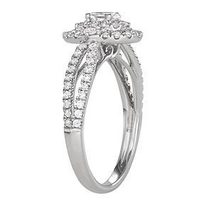 Simply Vera Vera Wang 14KT White Gold 3/4 Carat T.W. Oval Center Diamond Engagement Ring