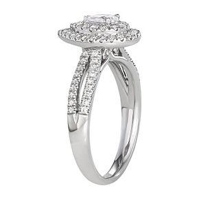 Simply Vera Vera Wang 14KT White Gold 3/4 Carat T.W. Pear Center Diamond Engagement Ring