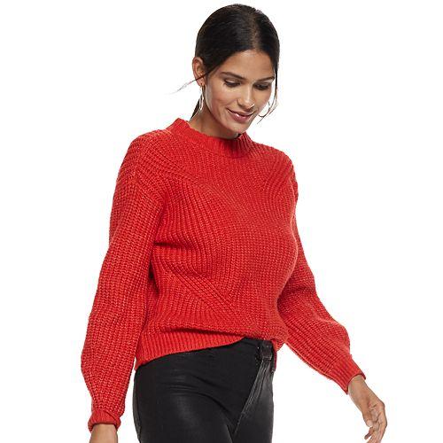 Petite Nine West Ribbed Mockneck Sweater