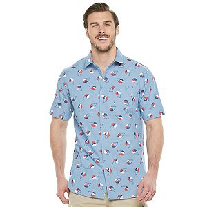 Big & Tall Unionbay Pier Printed Camp Button-Down Shirt