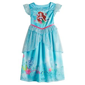 Disney's The Little Mermaid Toddler Girl Ariel Night Gown