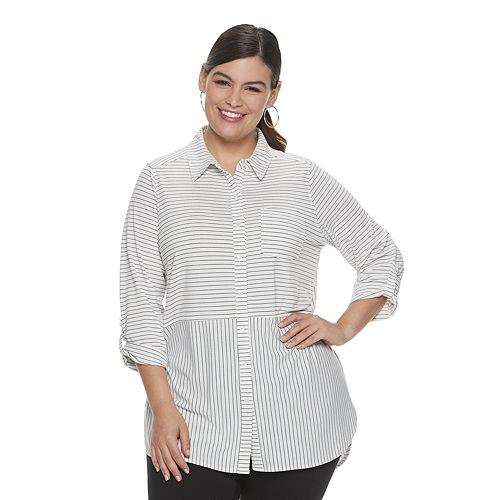 Plus Size Apt. 9® Button Front Tunic