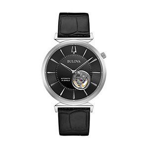 Bulova Men's Slim Regatta Automatic Leather Watch - 96A234