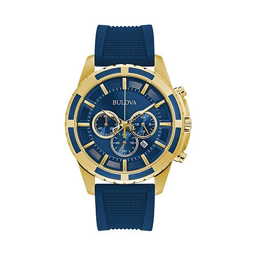 Bulova Men's Blue Silicone Chronograph Watch - 97B193
