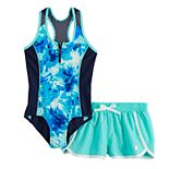 Girls 7-16 & Plus Size ZeroXposur Outburst 1-Piece & Cover Up Shorts Swimsuit Set