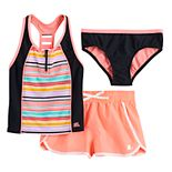 Girls 7-16 ZeroXposur Cabana Caper Tankini, Bottoms & Shorts Swimsuit Set