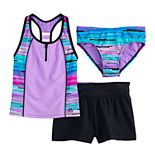 Girls 7-16 & Plus Size ZeroXposur Zion Zenith Tankini, Bottoms & Shorts Swimsuit Set