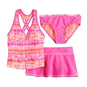 Girls 7-16 & Plus Size ZeroXposur Beachcomber Tankini, Bottoms & Cover-Up Skirt