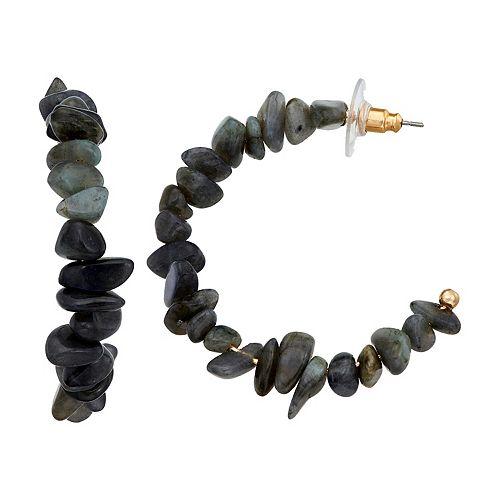 SONOMA Goods for Life™ Shell Chip Bead Hoop Earrings