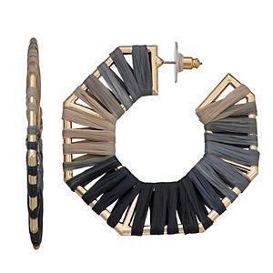 SONOMA Goods for Life® Geometric Raffia Wrapped Hoop Earrings